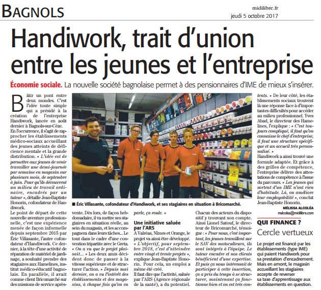 20171005_article Bagnols Midi Libre