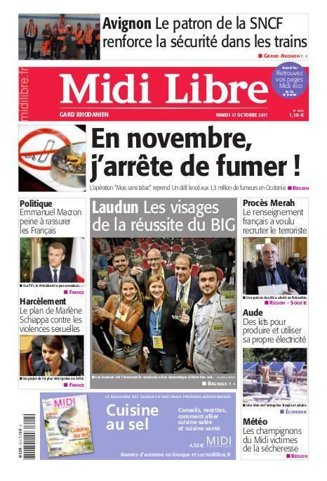 20171017_1ere page midi libre Le BIG