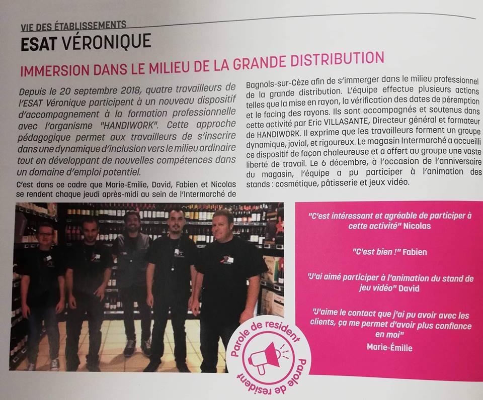 20190320_Article presse 20.03.19 Intermarché Bagnols- ESAT Véronique